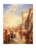 The Grand Canal: Scene - a Street in Venice, C.1837 Giclee Print by J. M. W. Turner