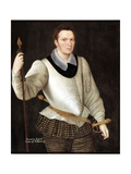 Portrait of Horace, Lord Vere of Tilbury, 1594 Giclee Print by George Gower