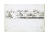 View of Farm Buildings across a Field, 1871 Giclee Print by Jean-François Millet