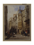Rue De L'Amiral Coligny, Rue Bailleul, Paris, 1831 Giclee Print by Thomas Shotter Boys