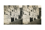 The Wailing Wall, 1850s Giclee Print by Mendel John Diness