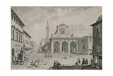 View of the Church of San Pier Maggiore, Florence Giclee Print by Giuseppe Zocchi
