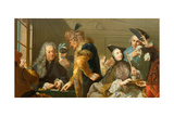 Gamblers in the Foyer Giclee Print by Johann Heinrich Tischbein