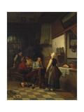In the Tavern, 1876 Giclee Print by Henri De Braekeleer