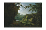 Dovedale by Moonlight Giclee Print by Joseph Wright of Derby