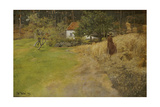 Haymaking, Stord, 1889 Giclee Print by Fritz Thaulow
