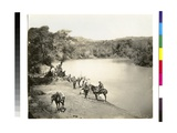 Travellers at the Jordan River, 1850s Giclee Print by Mendel John Diness