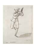 A Man with Knackers and Bells Giclee Print by Inigo Jones