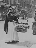 A Woman Potato Seller in London Photographic Print by Paul Martin