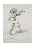 Man with Viol Giclee Print by Inigo Jones