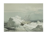 Critical Position of Hms Investigator on the North Coast of Baring Island, August 20th 1851, 1854 Giclee Print by Samuel Gurney Cresswell
