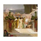 The Daughters of Judah in Babylon (Detail) Giclee Print by Herbert Gustave Schmalz