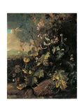 Forest Floor with Butterflies and Lizards Giclee Print by Matthias Withoos