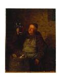 In a Monastery Garden Giclee Print by Eduard Grutzner