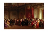 Benjamin Franklin Appearing before the Privy Council Giclee Print by Christian Schussele