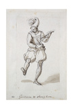 Man with Gridiron and Shoe Horn Giclee Print by Inigo Jones