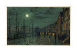 City Docks by Moonlight Giclee Print by John Atkinson Grimshaw