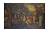 The Preaching of St. John the Baptist Giclee Print by Pieter Breugel the Younger