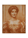 Portrait of Hilda Virtue Tebbs, 1897 Giclee Print by Edward Robert Hughes