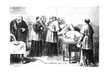 The Verification of the Death of Pius IX by Means of the Silver Hammer, from the 'Revista… Giclee Print by Pio Joris