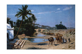 The Caravan Giclee Print by Jean Leon Gerome