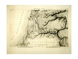 Jerusalem and Jaffa, Sheet from 'Napoleon's Map', 1799 Giclee Print by Pierre Jacotin