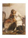 Sweethearts, 1890 Giclee Print by Charles Burton Barber