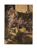 Sketch to Illustrate the Passions - Drunkenness, 1854 Giclee Print by Richard Dadd