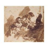 Reading Giclee Print by  Rembrandt van Rjin