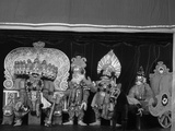 Characters from the Ramayana as Yakshagana Puppets Photographic Print