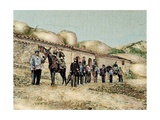 Hikers in San Jeronimo, Montserrat, Catalonia, Spain, from 'The Illustration', 1890 Giclee Print by L. Urgelles