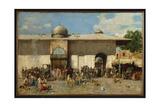 Oriental Market, 1884 Giclee Print by Alberto Pasini
