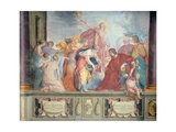 Lorenzo De Medici and Apollo Welcome the Muses and Virtues to Florence Giclee Print by Cecco Bravo