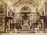 Interior of St John's Co-Cathedral in Valetta, Malta, 1850 Photographic Print by James Robertson