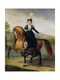 Equestrian Portrait of Catherine De Wurtemberg Giclee Print by Antoine Jean Gros