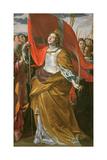 St. Ursula and the Virgins Giclée-tryk af Giovanni Lanfranco