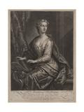 Mrs. Anastasia Robinson, Engraved by John Faber the Younger (C.1695-1756), 1727 Giclée-Druck von John Vanderbank