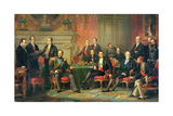 The Congress of Paris, 25 February to 30 March, 1856 Giclee Print by Edouard Louis Dubufe
