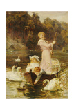 A Day on the River Giclee Print by Frederick Morgan