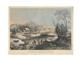American Winter Scenes - Morning, Printed and Published by Nathaniel Currier (1813-88), 1854 Giclee Print by Frances Flora Bond Palmer