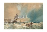 A Trading Brig Running Out of Tynemouth Giclee Print by John Wilson Carmichael