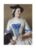 Portrait of Lady Tyrell Giclee Print by Jean-Etienne Liotard