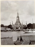 Wat Arun with Chao Phraya River, 1890 Photographic Print by Robert Lenz