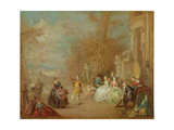The Country Dance Giclee Print by Jean-Baptiste Joseph Pater