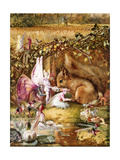The Wounded Squirrel Giclee Print by John Anster Fitzgerald