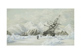 Hm Ships Enterprise and Investigator, Drifting Down Barrow Strait Giclee Print by Edward Adams