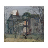 The Old Hall, Fairies by the Moonlight Giclee Print by John Anster Fitzgerald