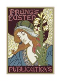 Poster Advertising Prang's Easter Publications, 1896 Giclee Print by Louis John Rhead