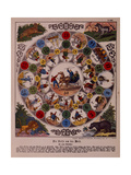 "Game of ""Voyage around the World"", Published by Ackermann, Wissembourg Giclee Print by F. C. Wentzel"