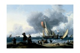 Dutchmen Embarking onto a Yacht, C.1670 Giclee Print by Ludolf Backhuysen